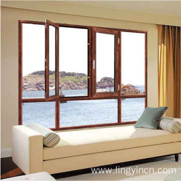 window doors design casement double glass aluminum windows
